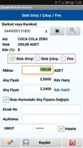restoran-asistan - restoran-asistan-stok-giris-cikis-fire